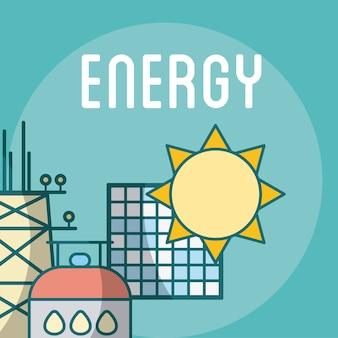 Panele słoneczne i energia gazu ziemnego