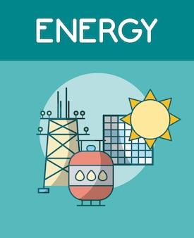 Panele słoneczne i energie gazu ziemnego