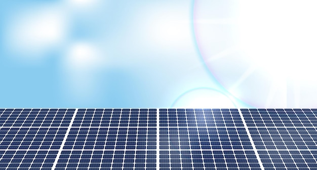 Panele słoneczne i turbiny wiatrowe lub alternatywne źródła energii ekologiczna, zrównoważona energia