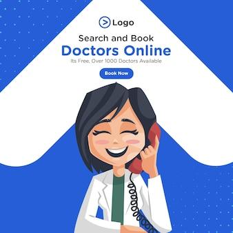 Pani doktor rozmawia na temat projektu banera telefonu