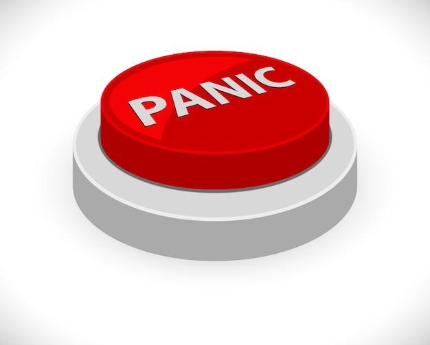 Panika czerwony przycisk