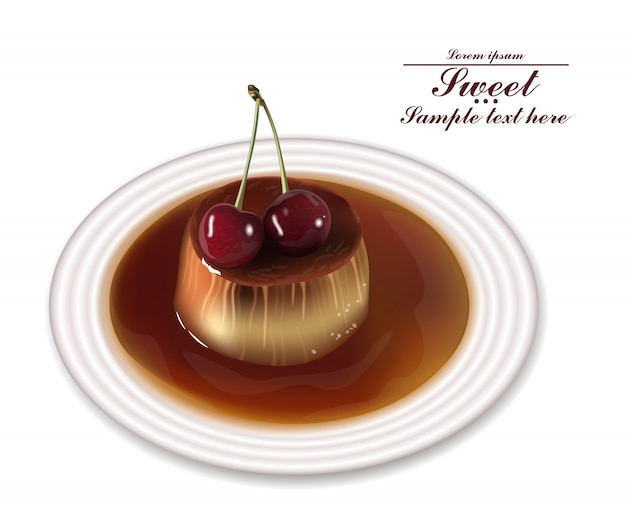 Panna cotta słodki deser