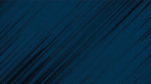 Panorama czarny komiks prędkości linii na niebieskim tle, koncepcja komiksu i ruchu, wektor.