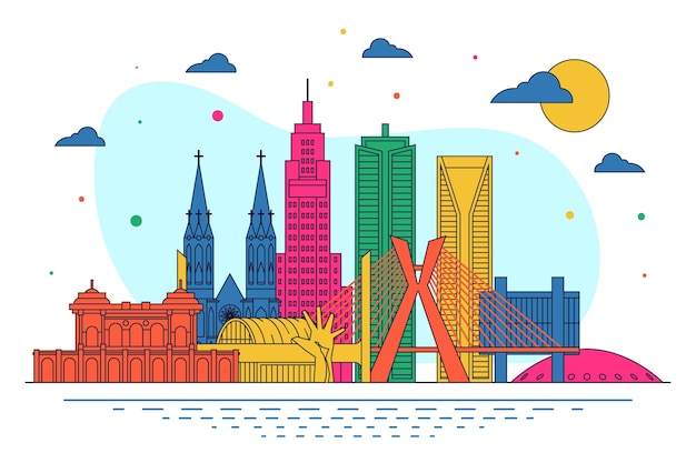 Panoramę miasta são paulo