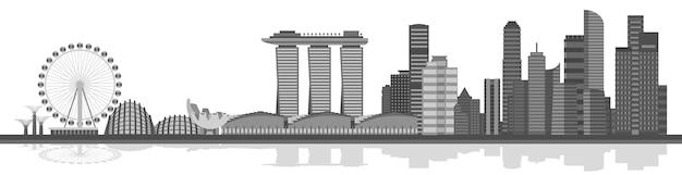 Panoramę miasta singapur