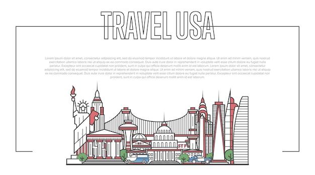 Panoramę miasta usa w stylu liniowym