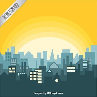 Panoramę miasta ze wschodu