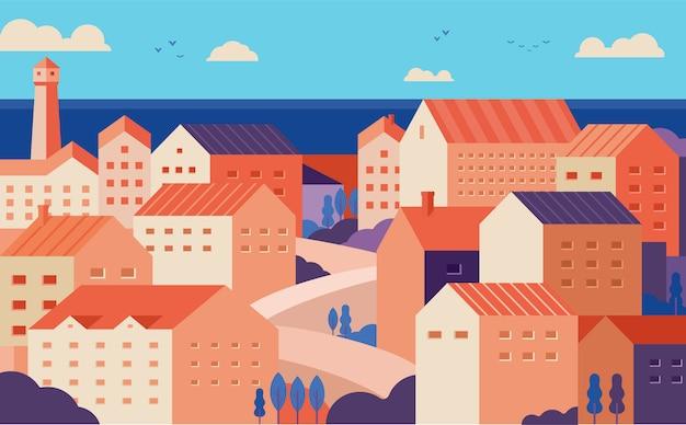 Panoramę śródziemnomorskiego miasta