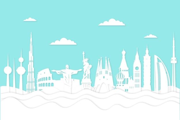 Panoramę stylu papieru zabytków