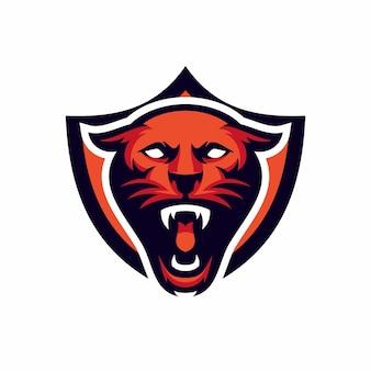 Pantera - wektor logo / ikona ilustracja maskotka