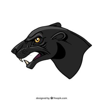 Pantera z boku głowy