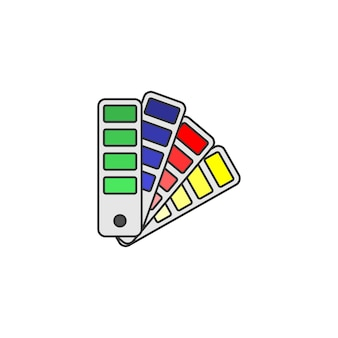 Pantone kolor ikony szablon projektu ilustracji wektorowych