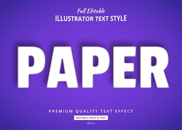 Paper cut realistyczny efekt stylu tekstu