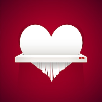 Paper heart to cut into shredder