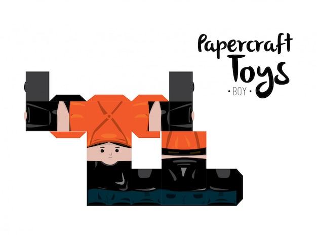 Papercraft boy