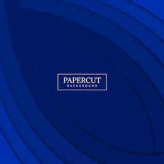 Papercut niebieska fala kolorowy wzór wektor