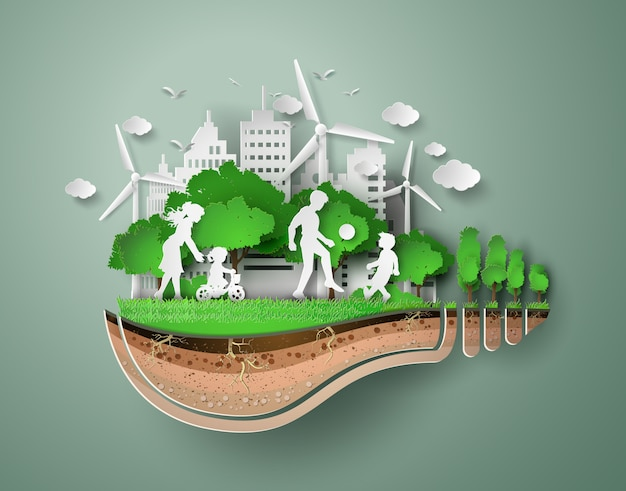Papercut of eco