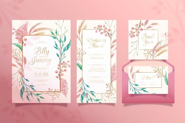 Papeteria ślubna w kwiaty