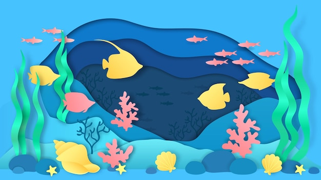 Papier cięty pod wodą