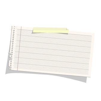 Papier firmowy na białym tle