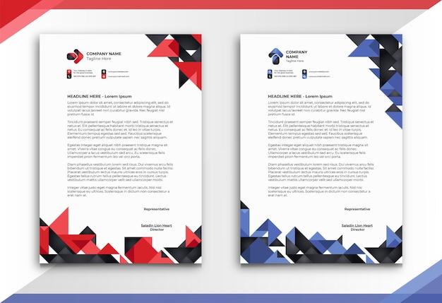 Papier firmowy o abstrakcyjnym i niepowtarzalnym stylu w dwóch kolorach