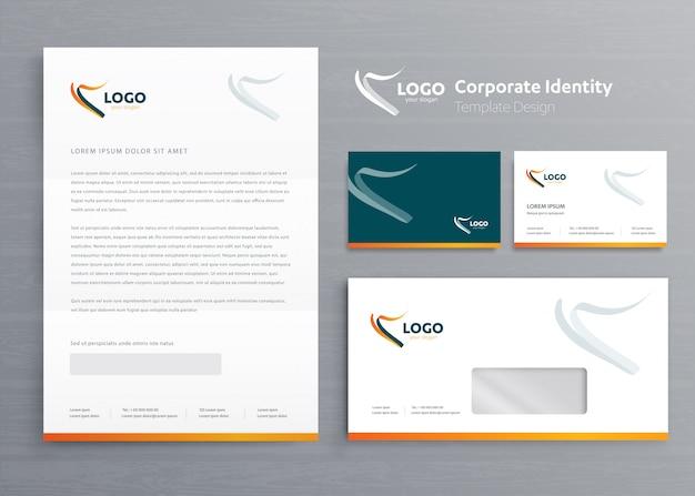 Papier firmowy szablon tożsamości korporacyjnej