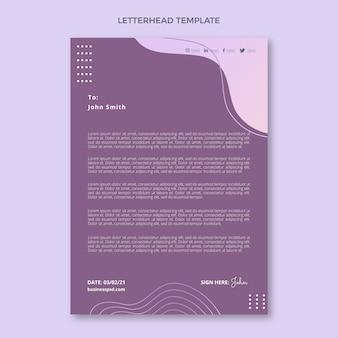 Papier firmowy w stylu gradientowym