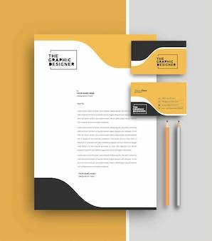 Papier firmowy z projektowania szablonów wizytówek, ilustracji wektorowych.