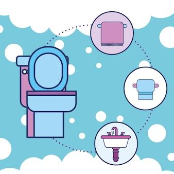 Papier toaletowy i łazienka z umywalką