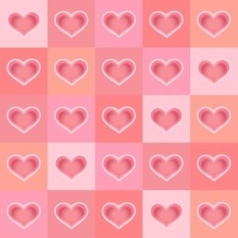 Papier w kształcie serca w stylu sztuki