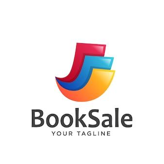 Papierowa książka logo kolorowe gradientu
