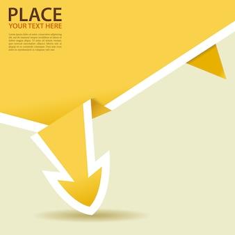 Papierowa strzałka origami