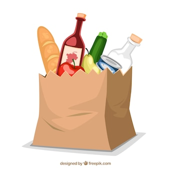 Papierowa torba z jedzeniem