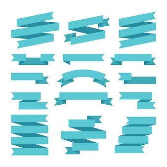 Papierowe banery wstążki w wycinance.