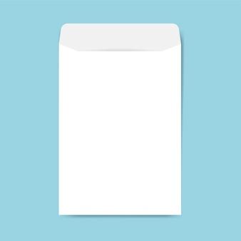Papierowy koperta projekta makieta wektor