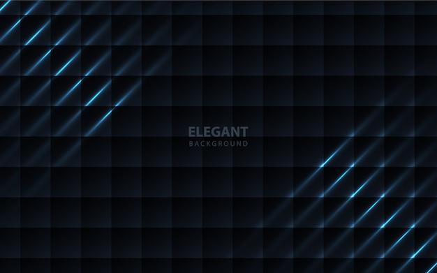 Papierowy kwadratowy wzór ciemnoniebieski tło