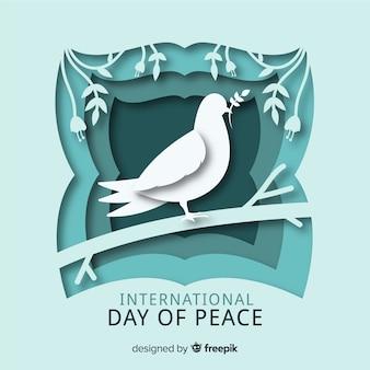 Papierowy międzynarodowy dzień pokoju
