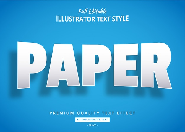 Papierowy realistyczny efekt stylu tekstu 3d