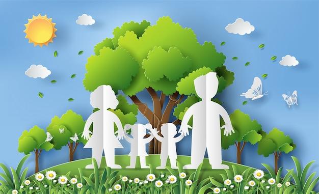Papierowy styl koncepcji światowego dnia ochrony środowiska.