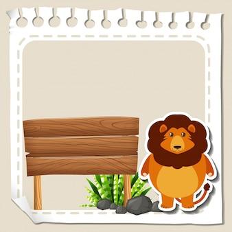 Papierowy szablon z lwem