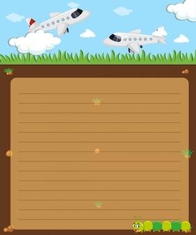 Papierowy szablon z samolotów latać
