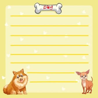 Papierowy szablon z ślicznymi psami