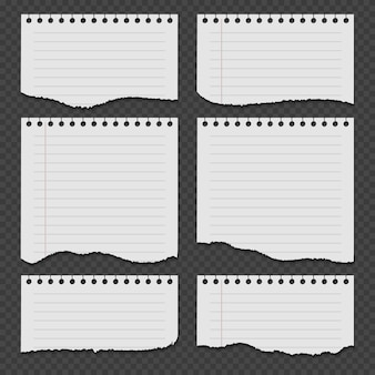 Papiery do notatników z podartym