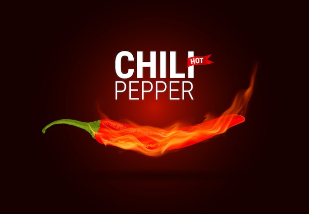 Papryczka chili palą się w ogniu