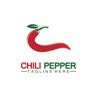 Papryka chili logo wektor ikona ilustracja szablon projektu