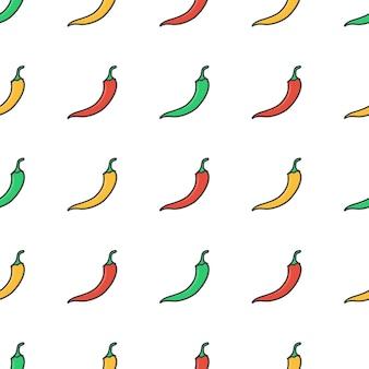 Papryka chili wzór. świeża papryka chili ilustracjali