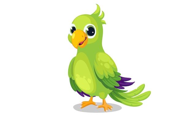 Papuga kreskówka wektor ilustracja