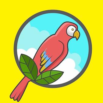 Papuga w szkle powiększającym