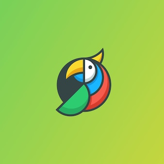 Papuzi geometryczny pojęcie ilustracyjny wektorowy szablon