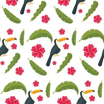 Papuzi papuzi ptasi bezszwowy wzór